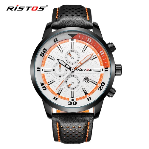 RISTOS 2017 Luminous Sports Military Style Men Watch Quartz Water-Proof Man Casual Wristwatch PU Leather Strap Masculino Relogio +Apparel &amp; Jewelry<br>RISTOS 2017 Luminous Sports Military Style Men Watch Quartz Water-Proof Man Casual Wristwatch PU Leather Strap Masculino Relogio +<br>