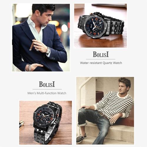 Bolisi Fashion Casual Quartz Watch 3ATM Water-resistant Watch Men Wristwatches Male CalendarApparel &amp; Jewelry<br>Bolisi Fashion Casual Quartz Watch 3ATM Water-resistant Watch Men Wristwatches Male Calendar<br>