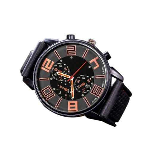 Hombres de moda de lujo de acero inoxidable reloj deportivo de cuarzo