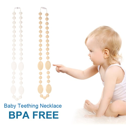 100% Food Grade Silicone Teething Necklace Soft Beads for Chew Baby Toddler Nursing Jewelry Toy for Mom to Wear BPA Free EN71 F963Apparel &amp; Jewelry<br>100% Food Grade Silicone Teething Necklace Soft Beads for Chew Baby Toddler Nursing Jewelry Toy for Mom to Wear BPA Free EN71 F963<br>