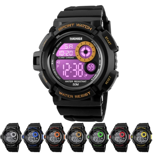 SKMEI Digital LED 50M Water-Proof Unisex Sports Military Watches Cool Men Women Electronic Outdoor Casual Wristwatch Alarm BackligApparel &amp; Jewelry<br>SKMEI Digital LED 50M Water-Proof Unisex Sports Military Watches Cool Men Women Electronic Outdoor Casual Wristwatch Alarm Backlig<br>