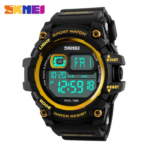 SKMEI Fashion Multi-function 50M Water-Proof Men Women Sports Watch Backlight Dual Time Unisex Electronic Outdoor Casual WristwatcApparel &amp; Jewelry<br>SKMEI Fashion Multi-function 50M Water-Proof Men Women Sports Watch Backlight Dual Time Unisex Electronic Outdoor Casual Wristwatc<br>