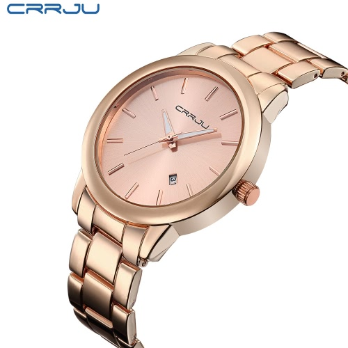 CRRJU 3ATM Daily Water Resistant Men Analog Business Watch Simple Style Wristwatch with CalendarApparel &amp; Jewelry<br>CRRJU 3ATM Daily Water Resistant Men Analog Business Watch Simple Style Wristwatch with Calendar<br>