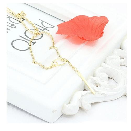 Lariat Necklace Bar Pendant Drop Delicate Choker Long Lariat Necklace Circle Statement Long Minimal Y Choker Necklace