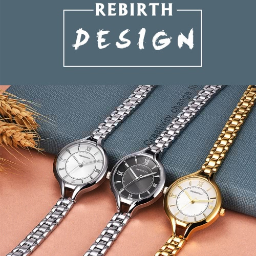 REBIRTH Brand Luxury Full Steel Women Business Watch Quartz Water-Proof Ladies Watch Bracelet Clasp Ultra Thin Dial Casual WristwaApparel &amp; Jewelry<br>REBIRTH Brand Luxury Full Steel Women Business Watch Quartz Water-Proof Ladies Watch Bracelet Clasp Ultra Thin Dial Casual Wristwa<br>