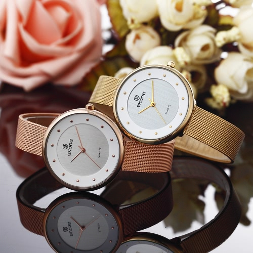 SKONE 3ATM Water-resistant Wristwatch Fashion Casual Womens Watches Luxury Steel Mesh Band Ultra Thin Ladies Quartz Watch RelogioApparel &amp; Jewelry<br>SKONE 3ATM Water-resistant Wristwatch Fashion Casual Womens Watches Luxury Steel Mesh Band Ultra Thin Ladies Quartz Watch Relogio<br>