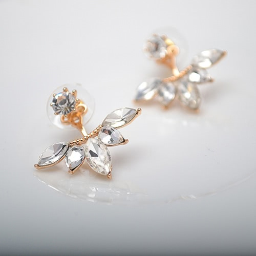 Luxury Clear Rhinestone oval Flower Simple Earrings for Women Fashion Earrings JewelryApparel &amp; Jewelry<br>Luxury Clear Rhinestone oval Flower Simple Earrings for Women Fashion Earrings Jewelry<br>