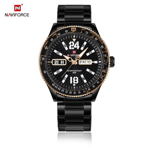 NAVIFORCE Fashion Casual Luxury Watch 3ATM Water-resistant Quartz Watch Luminous Men Wristwatches Male CalendarApparel &amp; Jewelry<br>NAVIFORCE Fashion Casual Luxury Watch 3ATM Water-resistant Quartz Watch Luminous Men Wristwatches Male Calendar<br>