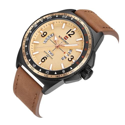 NAVIFORCE Sport Quartz Watch 3ATM Water-resistant Men Watches Luminous Military Wristwatch Male CalendarApparel &amp; Jewelry<br>NAVIFORCE Sport Quartz Watch 3ATM Water-resistant Men Watches Luminous Military Wristwatch Male Calendar<br>