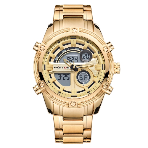 RISTOS Sport Quartz Digital Watch 3ATM Water-resistant Men Watches Backlight Wristwatch Male Calendar ChronographApparel &amp; Jewelry<br>RISTOS Sport Quartz Digital Watch 3ATM Water-resistant Men Watches Backlight Wristwatch Male Calendar Chronograph<br>