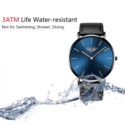 GUANQIN Fashion Ultra-thin Simple Men Watches 3ATM Life Water-resistant Quartz Casual Man WristwachApparel &amp; Jewelry<br>GUANQIN Fashion Ultra-thin Simple Men Watches 3ATM Life Water-resistant Quartz Casual Man Wristwach<br>