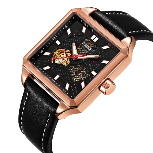 OUBAOER Luxury Genuine Leather Automatic men Watches Mechanical 3ATM Water-resistant Luminous Fashion Man WristwatchApparel &amp; Jewelry<br>OUBAOER Luxury Genuine Leather Automatic men Watches Mechanical 3ATM Water-resistant Luminous Fashion Man Wristwatch<br>
