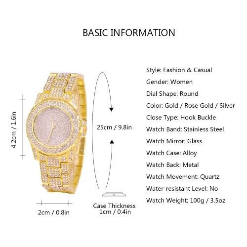 Fashion Luxury Stainless Steel Women Watches Quartz Casual Woman WristwatchApparel &amp; Jewelry<br>Fashion Luxury Stainless Steel Women Watches Quartz Casual Woman Wristwatch<br>