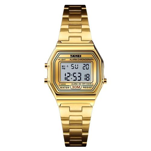 SKMEI 1415 Homens Analógico Relógio Digital de Moda Casual Sports Relógio de Pulso Tempo Display Alarme 3ATM À Prova D 'Água Pulseira de Couro Relé Multifuncional Relógios Relogio masculino