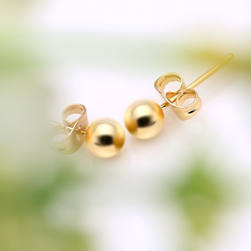 1Pair 18K Gold Plated Bead Round Ball Ear Stud Earrings Jewelry Gift for Women LadyApparel &amp; Jewelry<br>1Pair 18K Gold Plated Bead Round Ball Ear Stud Earrings Jewelry Gift for Women Lady<br>