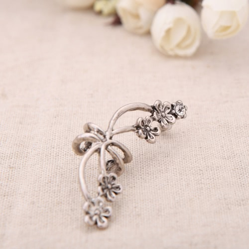 1Pcs New Punk Antique Retro Tone Metal Flower Ear Cuff Wrap Clip EarringApparel &amp; Jewelry<br>1Pcs New Punk Antique Retro Tone Metal Flower Ear Cuff Wrap Clip Earring<br>