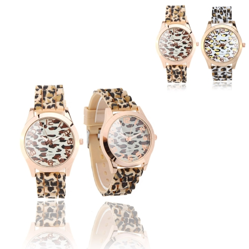 Stylish Ladies Quartz Wrist Watch Leopard Print Design WhiteApparel &amp; Jewelry<br>Stylish Ladies Quartz Wrist Watch Leopard Print Design White<br>