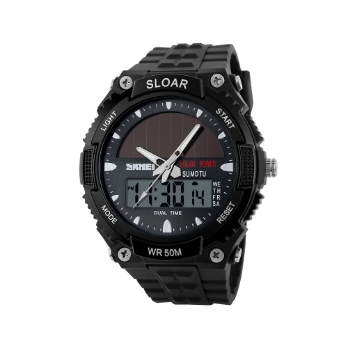 SKMEI Fashion Solar Power Sports Military WatchApparel &amp; Jewelry<br>SKMEI Fashion Solar Power Sports Military Watch<br>