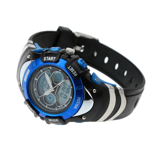 SKMEI Fashion Dual Time Electronic Multiple Functional Watch Casual Water Resistant Silicone Strap Sports Wristwatch for ChildrenApparel &amp; Jewelry<br>SKMEI Fashion Dual Time Electronic Multiple Functional Watch Casual Water Resistant Silicone Strap Sports Wristwatch for Children<br>