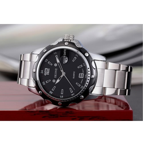 SKONE High Quality Alloy Watchband Waterproof Quartz Men Watch Hot Sell Fashion Precise Wristwatch with CalendarApparel &amp; Jewelry<br>SKONE High Quality Alloy Watchband Waterproof Quartz Men Watch Hot Sell Fashion Precise Wristwatch with Calendar<br>