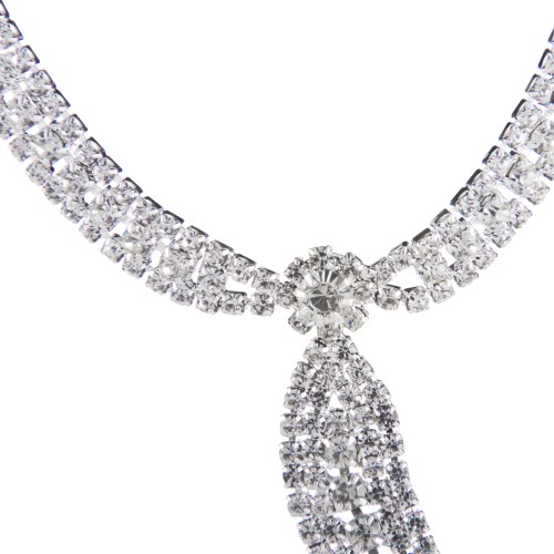 Fashionable Tie Pattern Women s Alloy Wedding Party Pendant Jewelry Set with Rhinestone Including Necklace EarringsApparel &amp; Jewelry<br>Fashionable Tie Pattern Women s Alloy Wedding Party Pendant Jewelry Set with Rhinestone Including Necklace Earrings<br>
