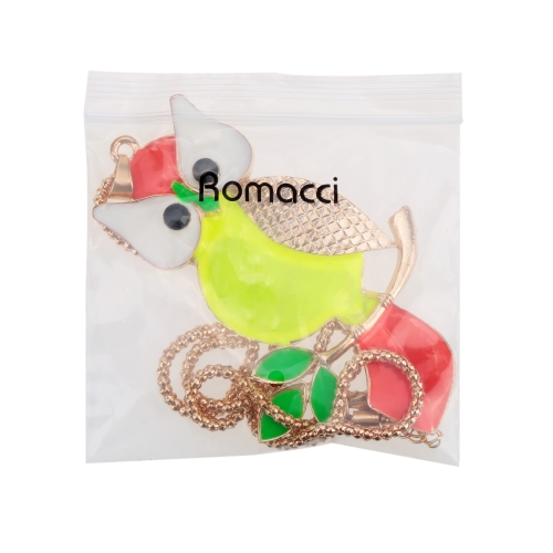 Romacci Lovely Fashion Colorful Owl Pendant Collar Chain Necklace JewelryApparel &amp; Jewelry<br>Romacci Lovely Fashion Colorful Owl Pendant Collar Chain Necklace Jewelry<br>