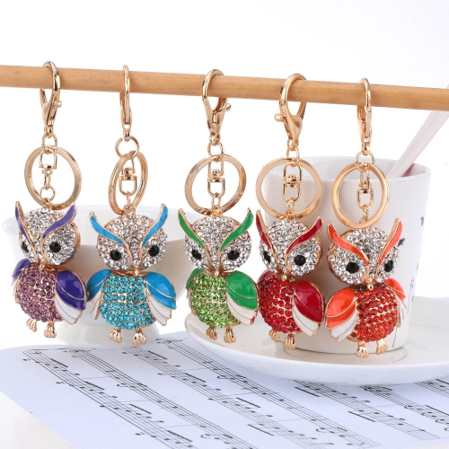 Fashional Jewelry Hollow Alloy Vintage Shinning Rhinestone Owl Pendant Key Ring Key ChainApparel &amp; Jewelry<br>Fashional Jewelry Hollow Alloy Vintage Shinning Rhinestone Owl Pendant Key Ring Key Chain<br>