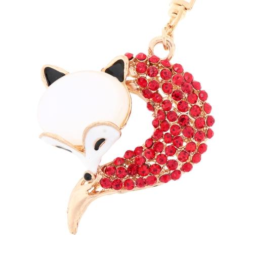 Fashional Jewelry Hollow Shinning Rhinestone Fox Pendant Key Ring Key ChainApparel &amp; Jewelry<br>Fashional Jewelry Hollow Shinning Rhinestone Fox Pendant Key Ring Key Chain<br>