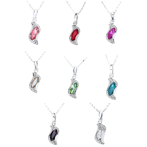 Water Drop Horse Eye Shaped Pendant Rhinestone Crystal Necklace Chain Luxurious Lovely Jewelry for Woman GirlApparel &amp; Jewelry<br>Water Drop Horse Eye Shaped Pendant Rhinestone Crystal Necklace Chain Luxurious Lovely Jewelry for Woman Girl<br>