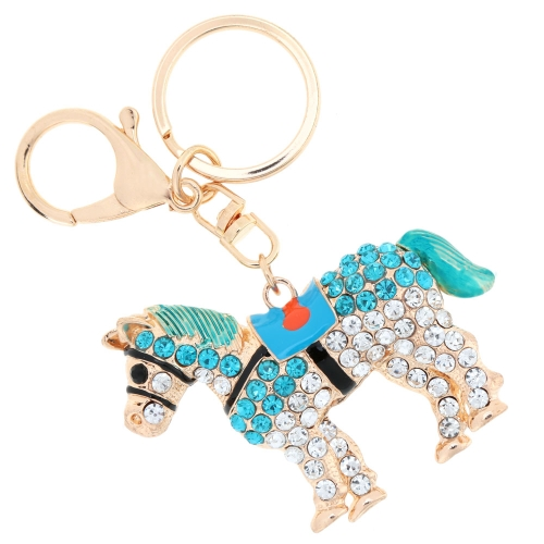 Fashional Jewelry Hollow Shinning Rhinestone Aureate Horse Pendant Key Ring Key ChainApparel &amp; Jewelry<br>Fashional Jewelry Hollow Shinning Rhinestone Aureate Horse Pendant Key Ring Key Chain<br>