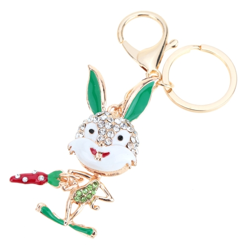 Fashional Jewelry Hollow Shinning Rhinestone Aureate Rabbit Pendant Key Ring Key ChainApparel &amp; Jewelry<br>Fashional Jewelry Hollow Shinning Rhinestone Aureate Rabbit Pendant Key Ring Key Chain<br>