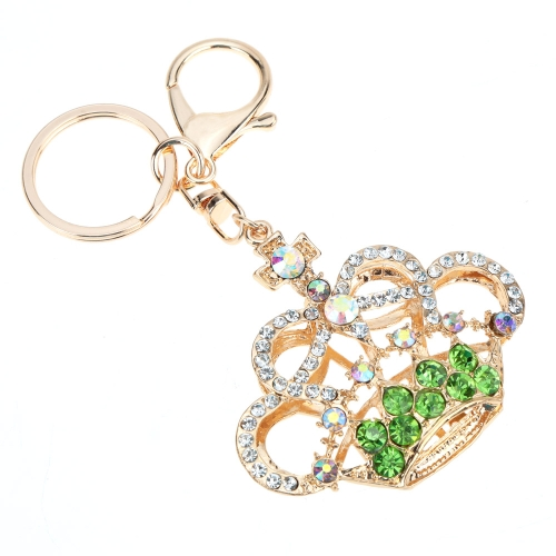 Fashional Jewelry Hollow Shinning Rhinestone Aureate Crown Pendant Key Ring Key ChainApparel &amp; Jewelry<br>Fashional Jewelry Hollow Shinning Rhinestone Aureate Crown Pendant Key Ring Key Chain<br>