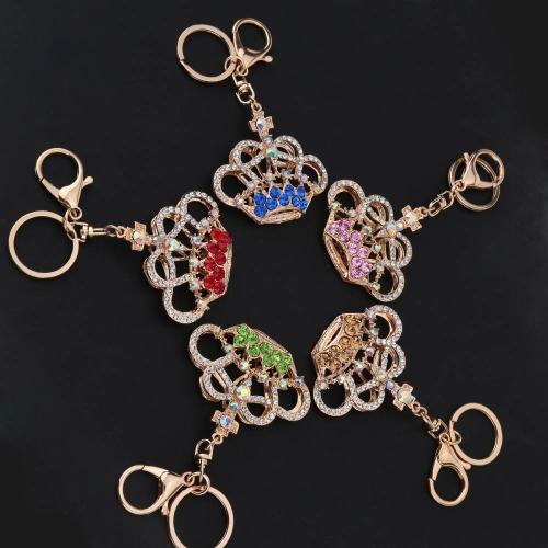 Fashional Jewelry Hollow Shinning Rhinestone Aureate Crown Pendant Key Ring Key ChainApparel &amp; Jewelry<br>Fashional Jewelry Hollow Shinning Rhinestone Aureate Crown Pendant Key Ring Key Chain<br>