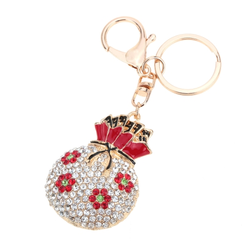 Fashional Jewelry Hollow Shinning Rhinestone Aureate Lucky Bag Pendant Flower Key Ring Key ChainApparel &amp; Jewelry<br>Fashional Jewelry Hollow Shinning Rhinestone Aureate Lucky Bag Pendant Flower Key Ring Key Chain<br>