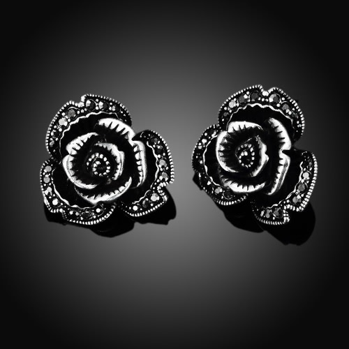 Romacci Elegant Retro Shinning Rhinestone Rose Flower Earrings Jewelry for Women GirlsApparel &amp; Jewelry<br>Romacci Elegant Retro Shinning Rhinestone Rose Flower Earrings Jewelry for Women Girls<br>