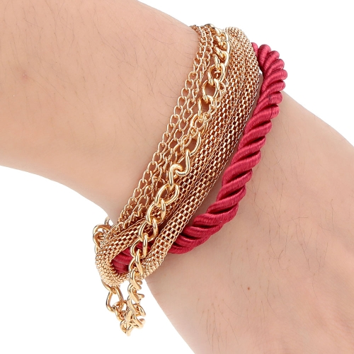Fashional New Jewelry Rope Chain Decoration Bracelet Six Colors for Women GirlsApparel &amp; Jewelry<br>Fashional New Jewelry Rope Chain Decoration Bracelet Six Colors for Women Girls<br>