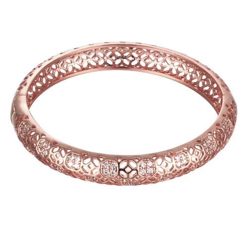 Hollow Window Lattices Brass Bangle Bracelet Embedded with AAA Zircon with An Opening Golden &amp; Rose Golden Fashional Accessories fApparel &amp; Jewelry<br>Hollow Window Lattices Brass Bangle Bracelet Embedded with AAA Zircon with An Opening Golden &amp; Rose Golden Fashional Accessories f<br>