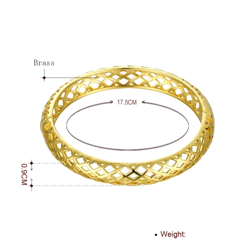 Hollow Nets Brass Bangle Bracelet with An Opening Golden &amp; Rose Golden Fashional Accessories for WomenApparel &amp; Jewelry<br>Hollow Nets Brass Bangle Bracelet with An Opening Golden &amp; Rose Golden Fashional Accessories for Women<br>