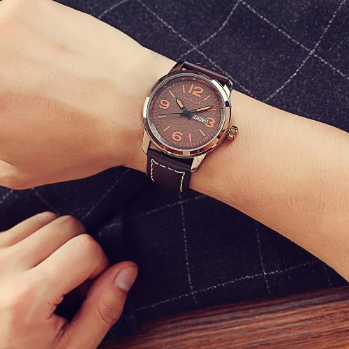 OCHSTIN Genuine Leather Strap Stylish Quartz Watch Excellent 3ATM Water Resistant Man Wristwatch with Calendar and WeekApparel &amp; Jewelry<br>OCHSTIN Genuine Leather Strap Stylish Quartz Watch Excellent 3ATM Water Resistant Man Wristwatch with Calendar and Week<br>