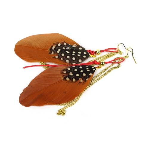 Cute Fashion Long Feather Chain Chandelier Drop Dangle Earring Eardrop Jewelry Accessory Gift for Women GirlApparel &amp; Jewelry<br>Cute Fashion Long Feather Chain Chandelier Drop Dangle Earring Eardrop Jewelry Accessory Gift for Women Girl<br>