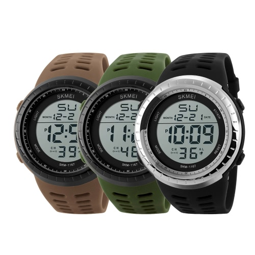 SKMEI Great 3ATM Water Resistant Men Digital Sports Wristwatch Good Quality Outdoor Watch with Calendar Alarm Backlight Stop WatchApparel &amp; Jewelry<br>SKMEI Great 3ATM Water Resistant Men Digital Sports Wristwatch Good Quality Outdoor Watch with Calendar Alarm Backlight Stop Watch<br>
