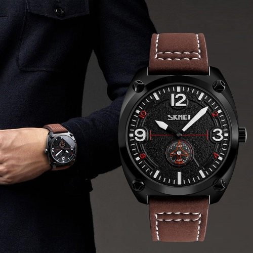 SKMEI Fashion Casual Quartz Watch 3ATM Water-resistant Men Watches Genuine Leather Wristwatch MaleApparel &amp; Jewelry<br>SKMEI Fashion Casual Quartz Watch 3ATM Water-resistant Men Watches Genuine Leather Wristwatch Male<br>