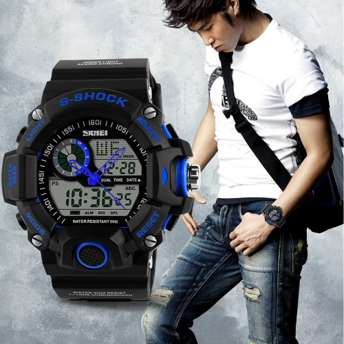 SKMEI Professional Dual Time Multifunctional High Quality Men Sports Wristwatch Water Resistant Outdoor Electronic Watch with FuncApparel &amp; Jewelry<br>SKMEI Professional Dual Time Multifunctional High Quality Men Sports Wristwatch Water Resistant Outdoor Electronic Watch with Func<br>