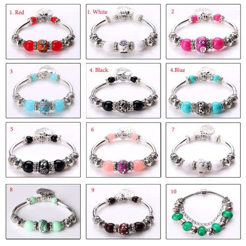 Fashion Unique Vintage Retro Woman Girl Silver Plated Metal Zinc Alloy Bracelet Bangle Beads Strand Charm Fine Jewelry for Gift PaApparel &amp; Jewelry<br>Fashion Unique Vintage Retro Woman Girl Silver Plated Metal Zinc Alloy Bracelet Bangle Beads Strand Charm Fine Jewelry for Gift Pa<br>