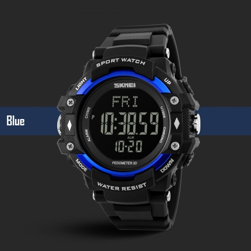 SKMEI 3D Pedometer Sports Men Watches Heart Rate Monitor Calories Counter Fitness Tracker EL Back Light Fitness Tracker Digital DiApparel &amp; Jewelry<br>SKMEI 3D Pedometer Sports Men Watches Heart Rate Monitor Calories Counter Fitness Tracker EL Back Light Fitness Tracker Digital Di<br>