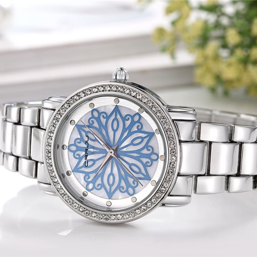 CRRJU Brand Luxury Diamond Stainless Steel Women Watches Water-Proof Skeleton Business Dress Wristwatch Ladies Watch Gift + BoxApparel &amp; Jewelry<br>CRRJU Brand Luxury Diamond Stainless Steel Women Watches Water-Proof Skeleton Business Dress Wristwatch Ladies Watch Gift + Box<br>