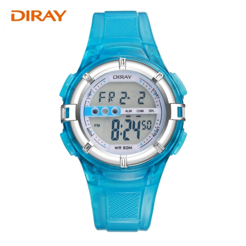 DIRAY Digital Children Student Watch Sport Watches 5ATM Water-resistant Boys Girls Kids Wristwatch with Alarm LED Backlight FunctiApparel &amp; Jewelry<br>DIRAY Digital Children Student Watch Sport Watches 5ATM Water-resistant Boys Girls Kids Wristwatch with Alarm LED Backlight Functi<br>