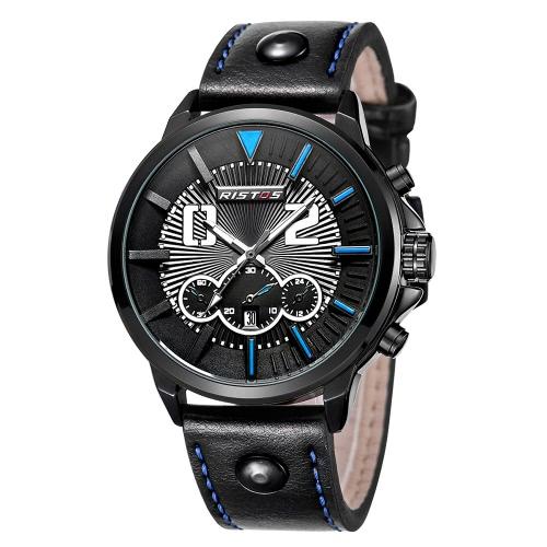 RISTOS Sport Watch Men Quartz Watches 3ATM Water-resistant Wristwatch Male CalendarApparel &amp; Jewelry<br>RISTOS Sport Watch Men Quartz Watches 3ATM Water-resistant Wristwatch Male Calendar<br>