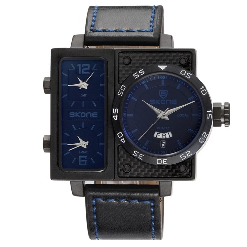 SKONE Sport Quartz Watch 3ATM Water-resistant Watch Men Wristwatches Male CalendarApparel &amp; Jewelry<br>SKONE Sport Quartz Watch 3ATM Water-resistant Watch Men Wristwatches Male Calendar<br>