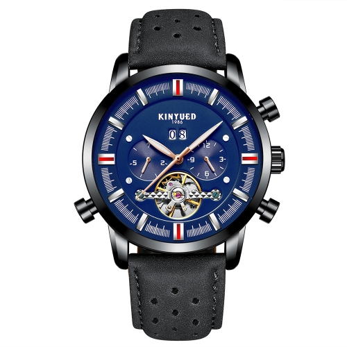 KINYUED Business Watch 3ATM Water-resistant Automatic Mechanical Watch Luminous Genuine Leather Wristwatch Male CalendarApparel &amp; Jewelry<br>KINYUED Business Watch 3ATM Water-resistant Automatic Mechanical Watch Luminous Genuine Leather Wristwatch Male Calendar<br>